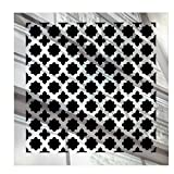 Saba Fiberglass Decorative Grille Vent Return Register Easy Air Flow Venetian Style Cover 6 inch x 6 inch (8'' x 8'' Overall). for Walls and Ceilings (not for Floor use), Mirror Finish