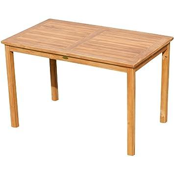 Amazon.de: ASS Teak XL Holztisch 120x70cm Gartenmöbel Gartentisch ...