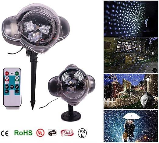 Proyector de luces navideñas, proyector de copos de nieve IP65 a ...