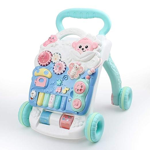 GAOLEI Andador de bebé Dos en uno Multiusos Andante Anti-Flip ...