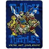 "Teenage Mutant Ninja Turtles, ""Tough Turtle Blues"" Fleece Throw Blanket, 45"" x 60"""