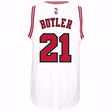69a5b1691 Image Unavailable. Image not available for. Color  adidas Jimmy Butler  Chicago Bulls Swingman White Jersey XL