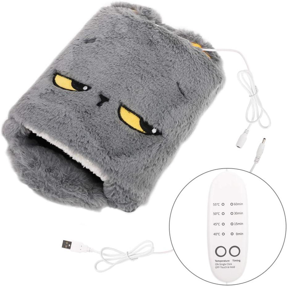 MoKo Alfombrilla de Ratón Invierno, Cojín Ratón de Calefacción por USB y Protector de Muñeca con Caja de Embalaje y Diseño Dibujos Animados para Gamers Ordenador, PC y Laptop - Gris