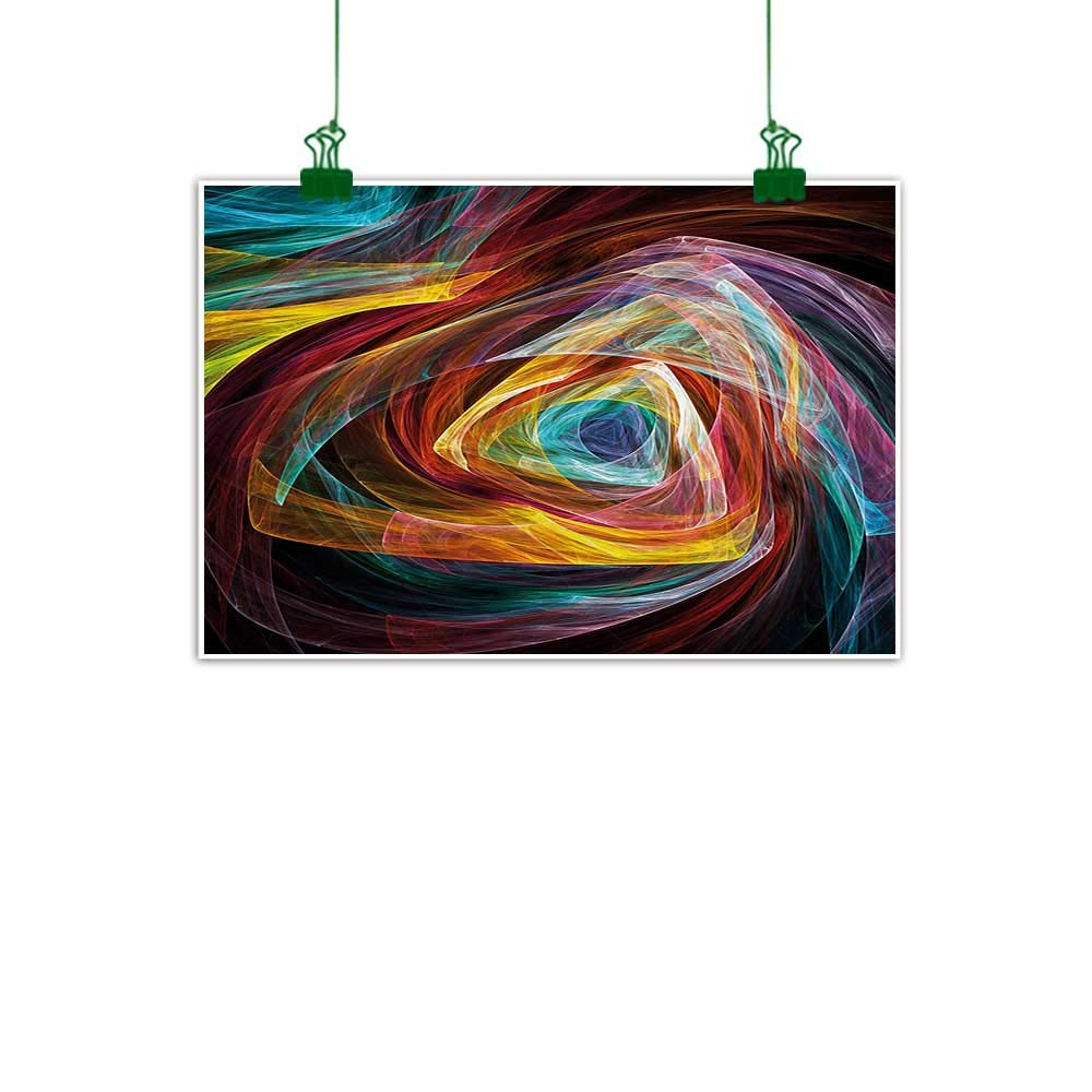 Amazon com anzhutwelve fractal canvas art painting psychedelic