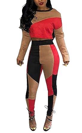 Mujer Ropa Casual Crop Top Y Pantalones Dos Piezas Set Otoño ...