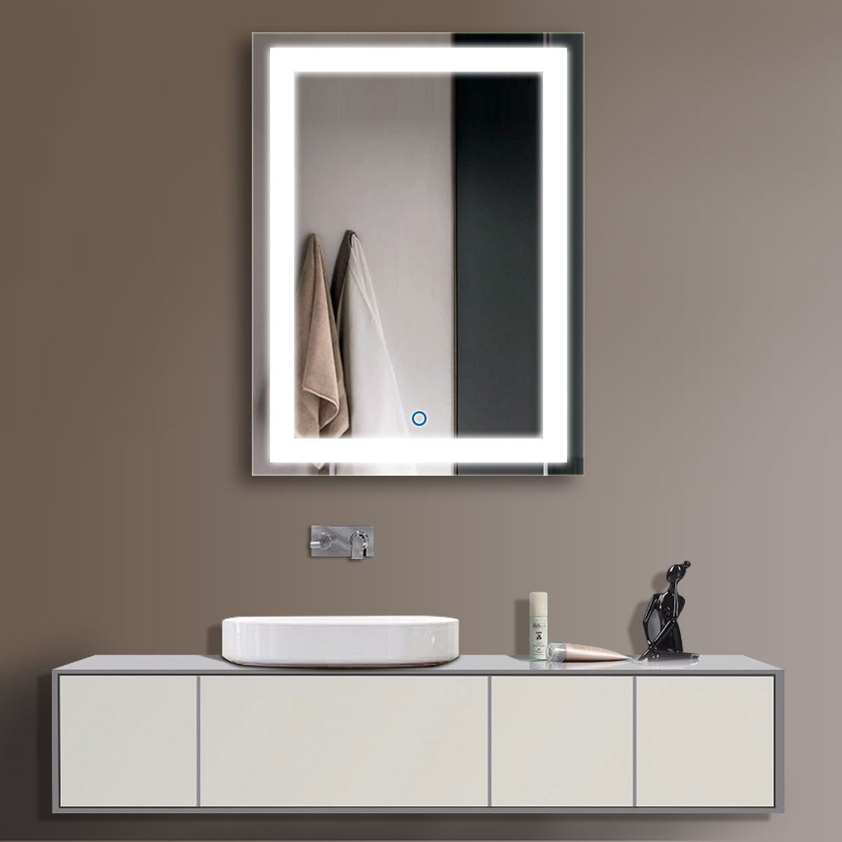 Unique Wide Mirrored Bathroom Cabinet