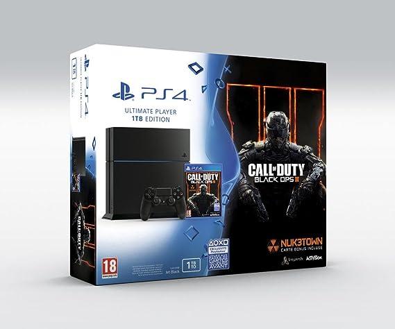 Sony PlayStation 4 + Call Of Duty: Black Ops III Negro 1000 GB Wifi - Videoconsolas (PlayStation 4, Negro, 8192 MB, GDDR5, AMD Jaguar, AMD Radeon): Amazon.es: Videojuegos