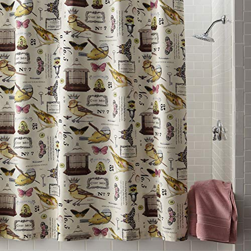 DS BATH Terrasse Shower Curtain,Mildew Resistant Polyester Fabric Shower Curtain,Print Shower Curtains for Bathroom,Contemporary Decorative Waterproof Bathroom Curtains,72