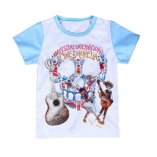 4c53af2d942d Toddler Coco Miguel T-Shirt Day of The Dead Festival Shirts 3D Pattern  Short Sleeve