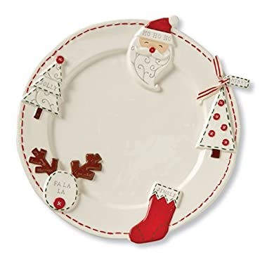 Deck the Halls Christmas Round Platter