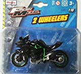 Maisto 1:18 Kawasaki Ninja H2R Die Cast Balance Bike - Multi Color