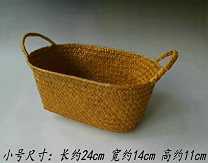 Canasta de almacenamiento cestas tejidas de paja casa muebles cocina ...
