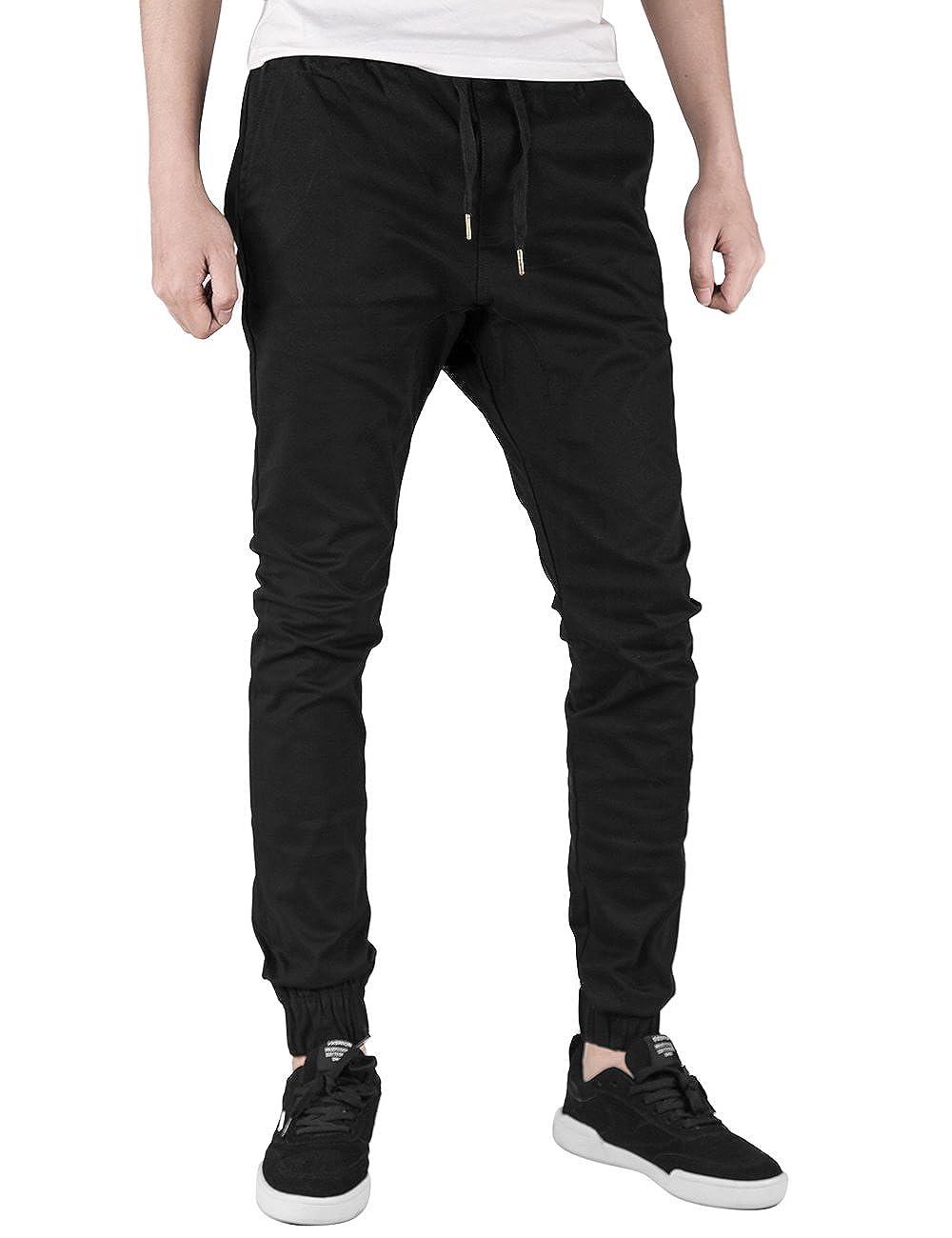 251e60db1 Italy Morn Men's Casual Chino Jogger Trousers: Amazon.co.uk: Clothing