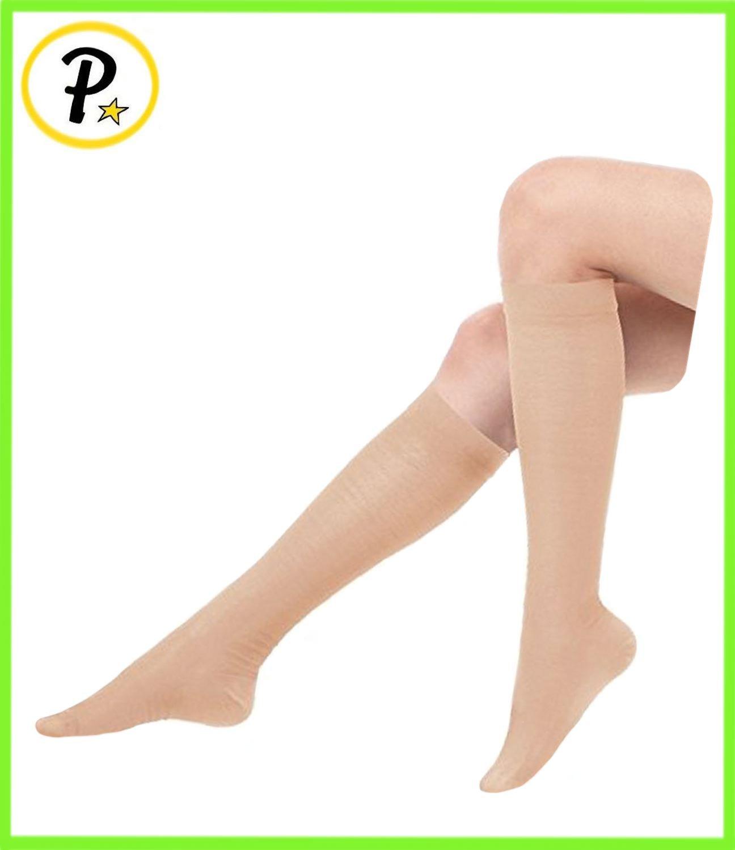 15a848715a Presadee Women's Ultra Thin Lightweight 15-20 mmHg Compression Socks Leg  Calf Circulation.