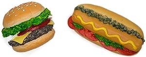 Vintage Magnet Mix Hamburger and Hotdog Recipe Fast Food Dollhouse Miniature Kitchen Food Supply