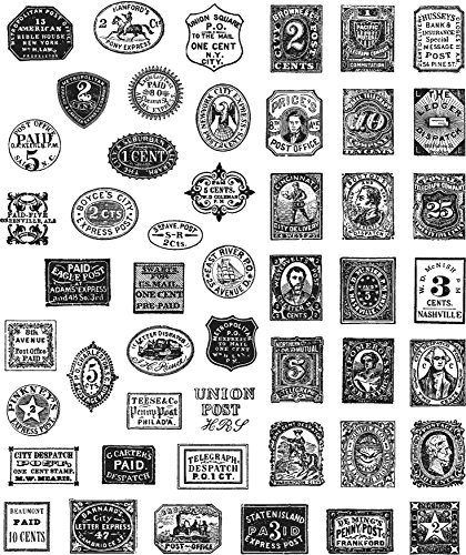 Stampers Anonymous Tim Holtz Cling Stamps 7''X8.5''-Stamp Collector by Stampers Anonymous