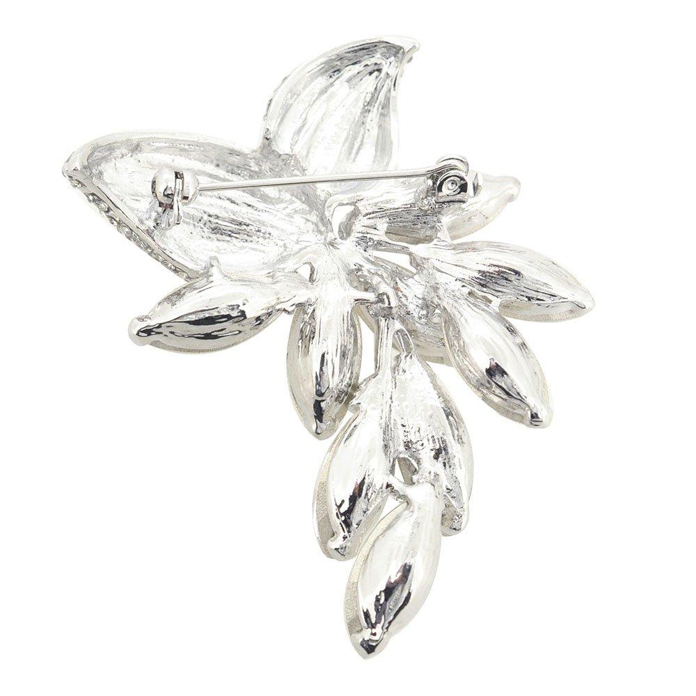 Fantasyard Silver Marquis Abstract Flower Brooch Pin