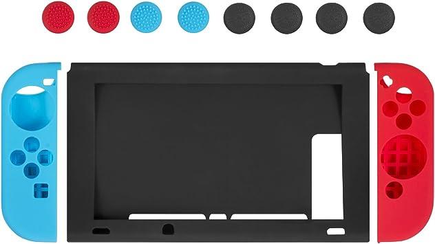Funda de Silicona para Nintendo Switch–Younik Carcasa protectiva de Silicona Suave antiresbalante para Nintendo Switch: Amazon.es: Electrónica