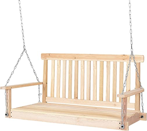 Amazon.com: Giantex 4 ft porche Swing con cadena madera ...