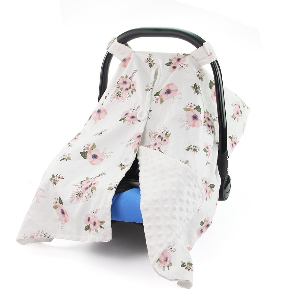 MHJY Premium Carseat Canopy Cover Nursing Cover Breathable Baby Car Cotton Canopy | Infant Car Seat Canopy Nursing Carseat Cover for Boy Girl Baby Shower Gift for Breastfeeding Moms touchhome
