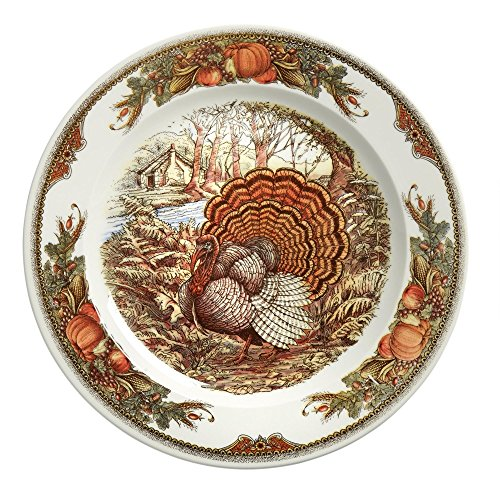 """Queen's Myott Bountiful Turkey Round Serving Platter (12.25"""")"""