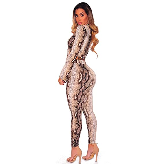 2cc35b7abf58a CHENGYANG Femme Manches Longues Crop Tops + Pantalon Survêtement Ensemble  Casual Clubwear: Amazon.fr: Vêtements et accessoires