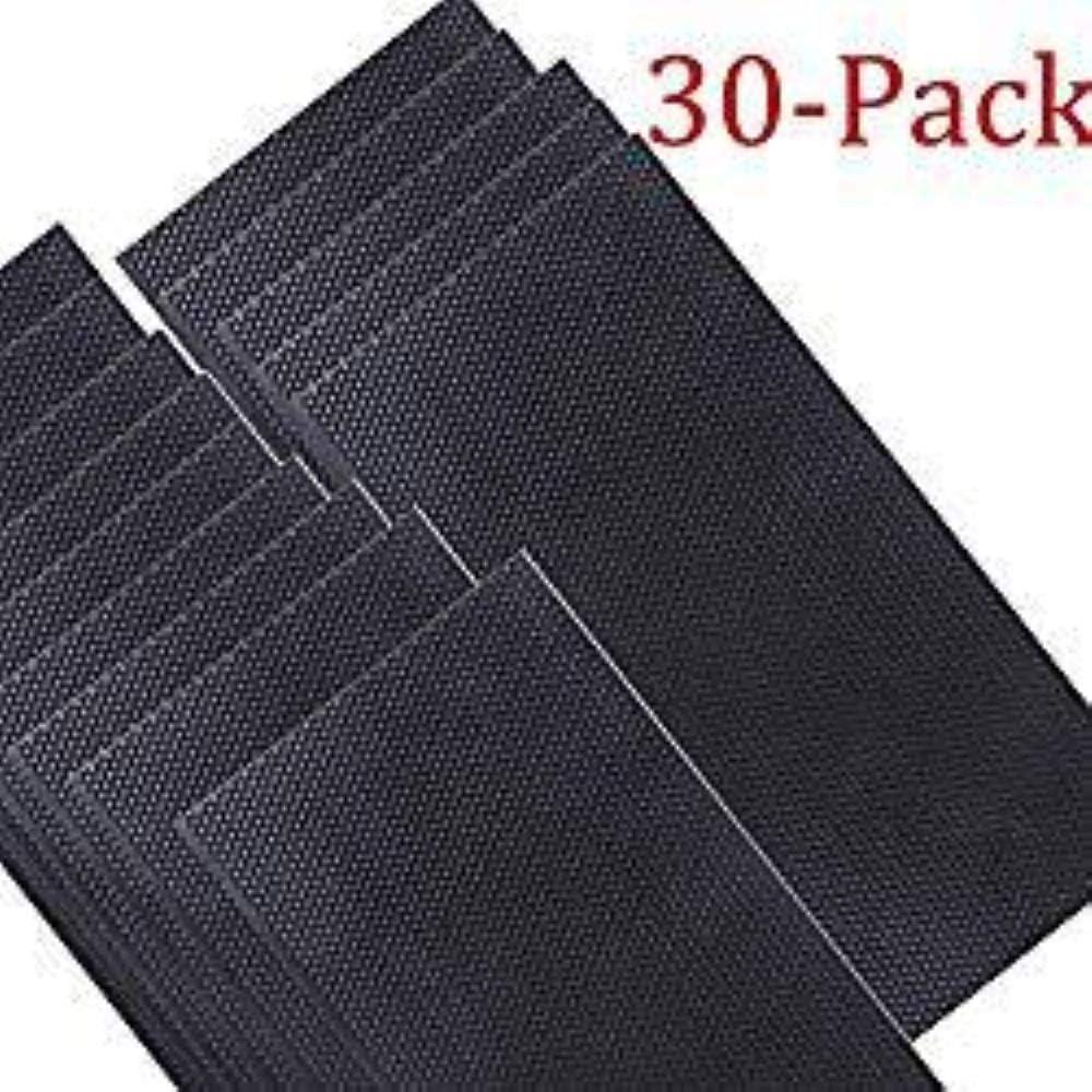 HunterBee - Láminas de plástico (30 unidades), color negro