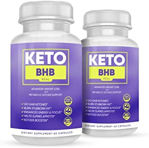 Keto BHB Real Capsules - Keto BHB Real 800 Capsules for Weight Loss - Advanced Keto BHB Capsules Formula with Fat Burning Ketosis (120 Capsules, 2 Month Supply)