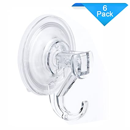 Quntis Suction Cup Hook Heavy Duty Waterproof Bathroom Shower Suction Hooks  Powerful Vacuum Suction For Robe