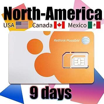 Tarjeta SIM prepagada USA, Canadá y México AT&T Network ...
