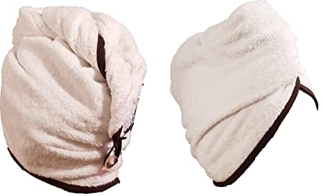 Microfibre Hair Drying Towel Wrap Turbie turban head Hat Bun Cap Microfiber T