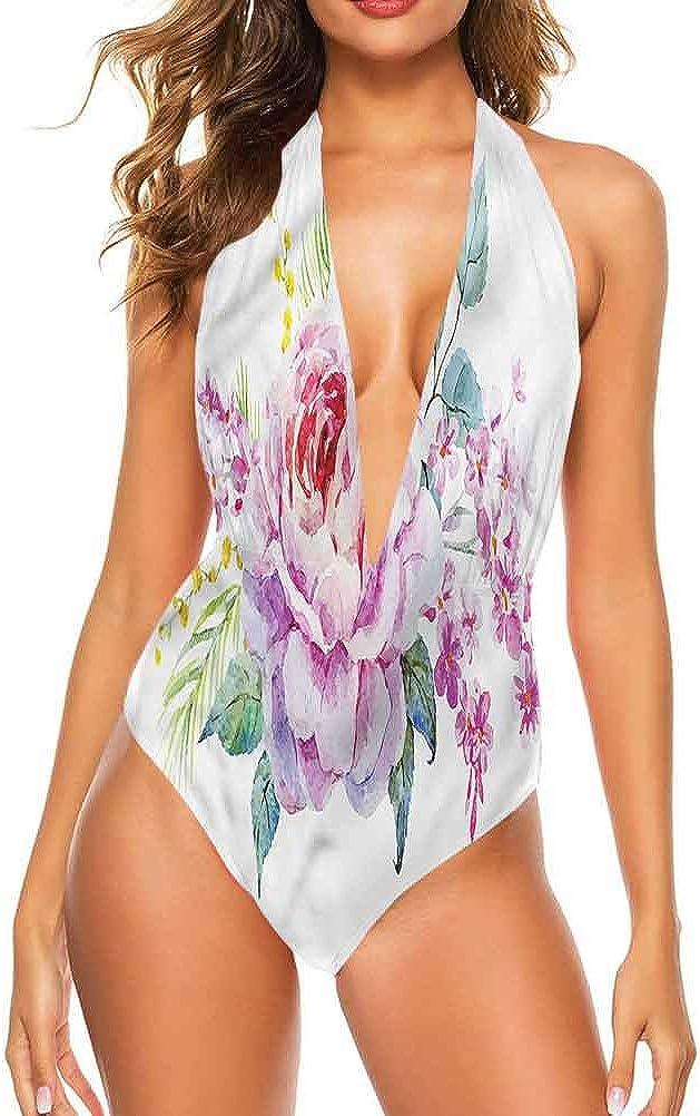 Ensemble de bikini taille moyenne Mauve, tendance à pois facile à régler et reste attaché Multi 21.