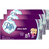 Puffs Ultra Soft Facial Tissues, 24 Cubes, 56 Tissues per Cube (Packaging may vary)
