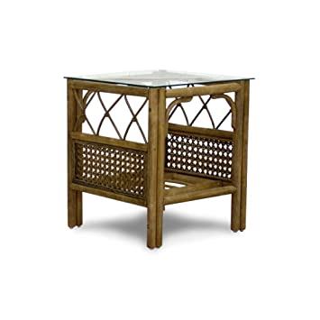 Conservatory Furniture   Side Table   Cane   Sienna   No Glass Top   Crystal