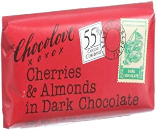 product image for Chocolove Xoxox Cherries & Almonds Dark Chocolate Mini Bar, 55% Cocoa Content, 1.3 Ounce (2)