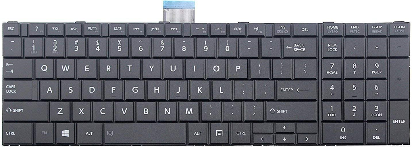 Original New Laptop Replacement US Black Keyboard for Toshiba Satellite C55-A5300 C55-A5310 C55-A5281 C55T-A5222