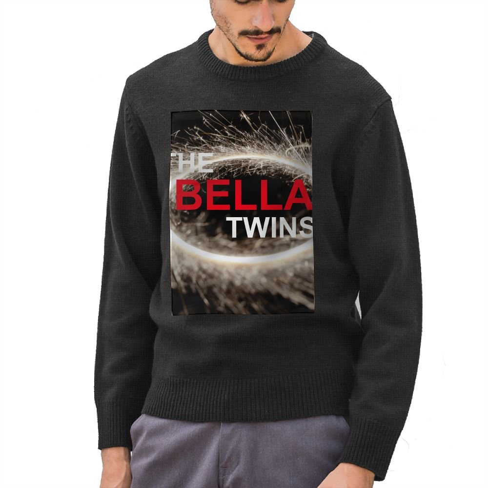 Kimberly Coltman The Bella Twins Logo Mens Pullover Sweaters Round Neck Knitted Black by Kimberly Coltman