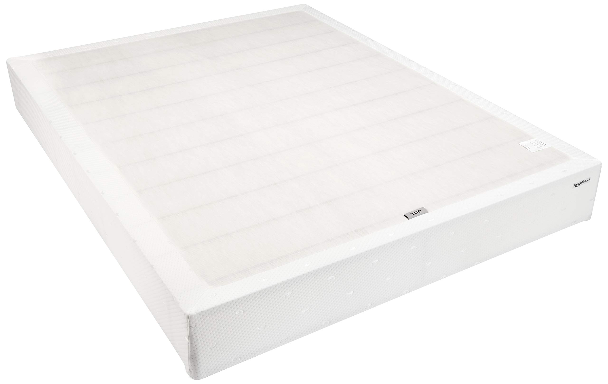 AmazonBasics Mattress Foundation / Smart Box Spring, Tool-Free Easy Assembly - 9-Inch, Cal King