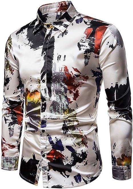 Camisa Hombre Manga Larga Casual Slim Fit Camisas: Amazon.es: Deportes y aire libre