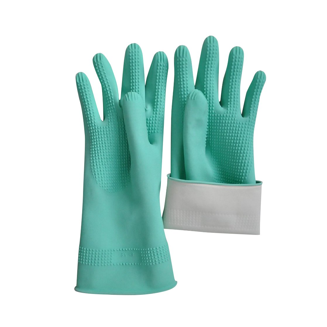 1=2 Riverbyland Green Waterproof Rubber Gloves Pack of 3 Pairs