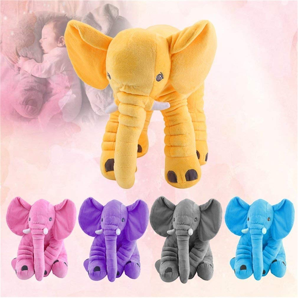 Hemore Stuffed Animal Cushion Kids Baby Sleeping Soft Pillow Toy Cute Elephant Cotton Baby Products Health Baby Care