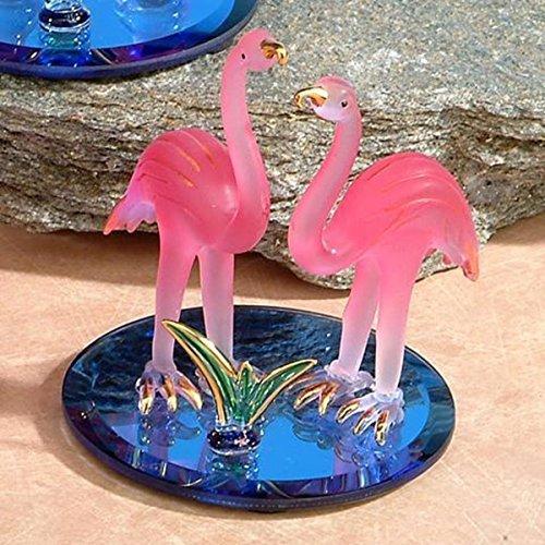(StealStreet SS-UG-CR-3059 Height Double Flamingos Pink Crystal Glass Figurine Decoration, 4