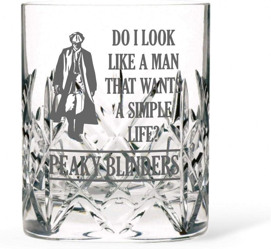 Vaso de whisky de cristal de corte real inspirado en Peaky Blinders: Amazon.es: Hogar