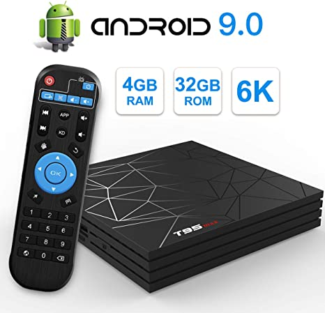 Android TV Box,T95 MAX Android 9.0 TV Box 4GB RAM/32GB ROM H6 ...