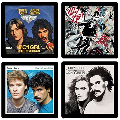 Hall and Oates - Collectible Coaster Gift Set #1 ~ (4) Different Album Covers Reproduced on Soft Pliable Coasters