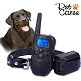 Dog Training Collar-Upgraded Waterproof Receiver & Collar Training Collar with Remote Rechargeable Dog Shock Collar with Beeps, Vibration and Shock