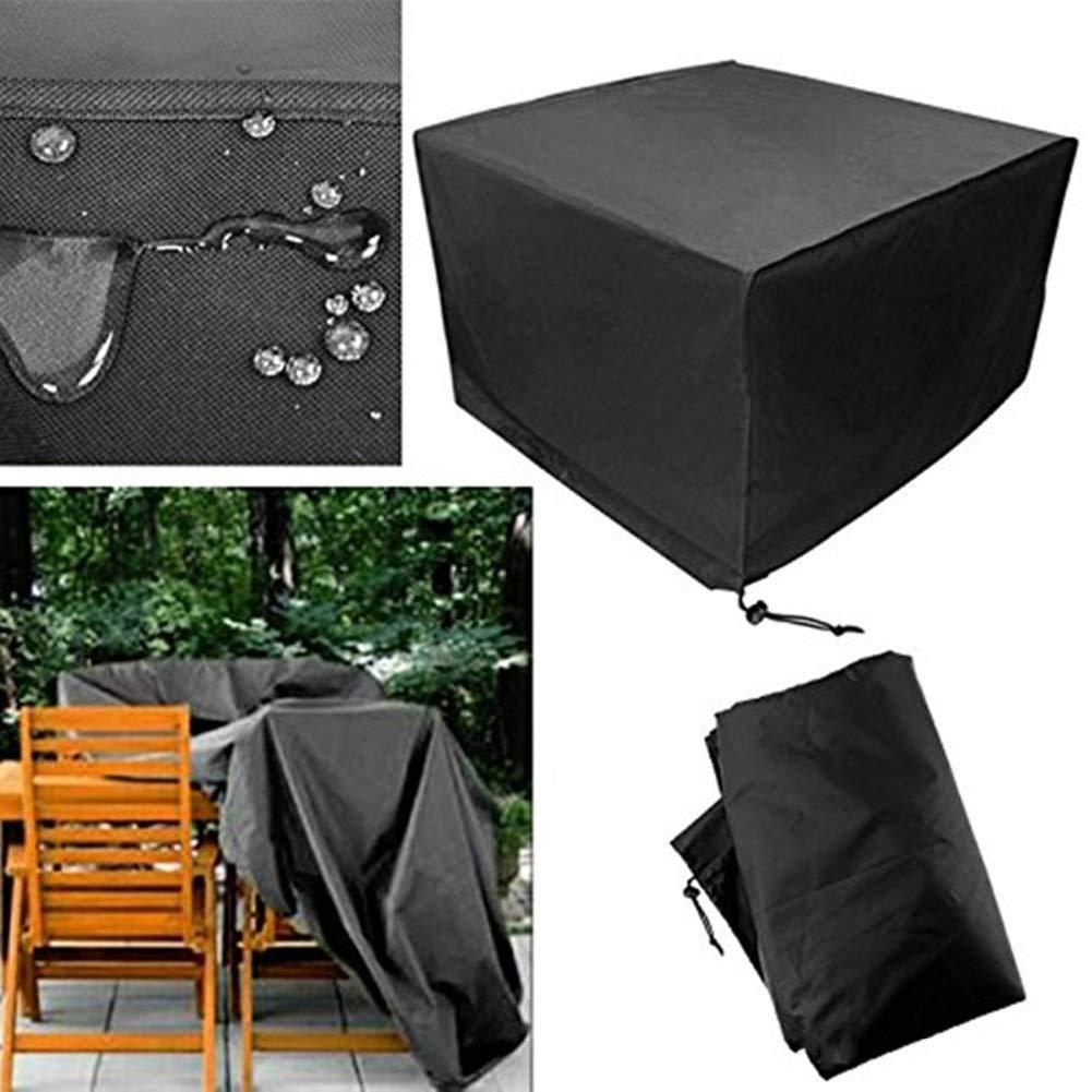LIXIONG ガーデン屋外カバーテーブル 屋外の 表 そして 椅子 ほこり カバー レインプルーフ 雪 保護 オックスフォード 布 ソファー 保護する カバー パティオ、 サイズ カスタマイズ可能 (Color : Black, Size : 350x260x90cm) 350x260x90cm Black B07TNZ9LW8