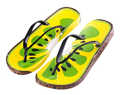 Fruits Printed Cartoon Summer Beach Slippers Platform Flip Flops Girls Sandals Shoes