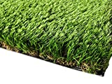PZG Commerical Artificial Grass Patch w/ Drainage Holes & Rubber Backing | Extra-Heavy & Durable Turf | Lead-Free Fake Grass for Dogs or Outdoor Decor | Total Wt. - 94 oz & Face Wt. 62 oz | 12' x 6'