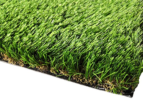 PZG Commerical Artificial Grass Patch w/ Drainage Holes & Rubber Backing | Extra-Heavy & Durable Turf | Lead-Free Fake Grass for Dogs or Outdoor Decor | Total Wt. - 94 oz & Face Wt. 62 oz | 4' x 2' ()